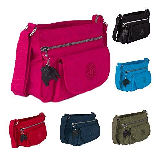 Big Handbag Shop - Borsa a tracolla donna Sky Blue