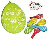 """24 tlg. Set _ Luftballons - """" Schultüten & Zuckertüten - Schulanfang """" - Ballon für Helium oder Luft - Kinder / Mädchen & Jungen - Einschulung - Schulbeginn - Schulstart / Schuleinführung - Schule - z.B. für Kindergeburtstag Party / Geburtstag - Heliumluftballon - für Innen und Außen - Deko"""