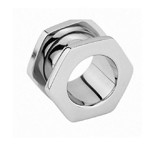 eeddoo Flesh Tunnel Schrauben Design Silber Edelstahl 5 mm