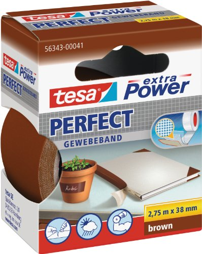 tesa Gewebeband, extra Power Perfect, braun, 2,75m x 38mm