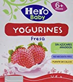 Hero Baby Yogurines Fresa - Paquete de 4 x 100 gr - Total: 400 gr - , Pack de 6