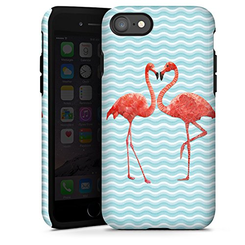 Apple iPhone 5c Hülle Premium Case Cover Flamingo Sommer Vogel Tough Case glänzend