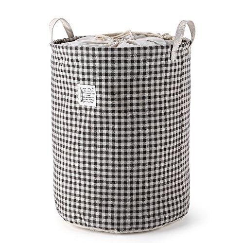 Fallen Lagerung Bett (MEE'LIFE Wäschekorb, Wäschebekleidung Sorters Wäscherei Hampers Clothes Organisation mit Baumwoll- und Leinenmaterial (Braun))