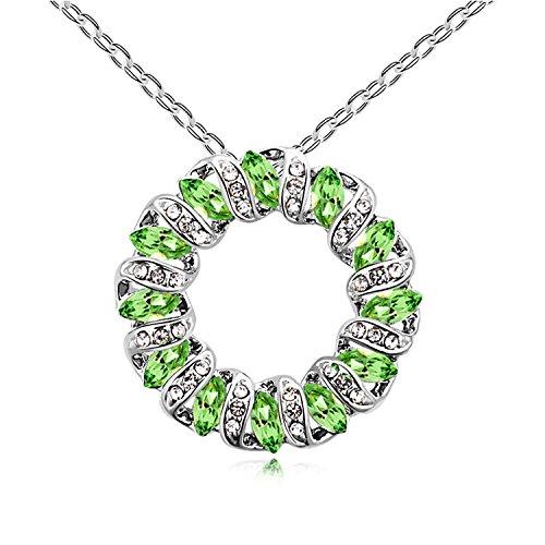 Sie Swarovski Elements Crystal, Damen Mode Anhänger Halskette, geben Sie Sich/Freundin / Mama/Frau Geschenk, Green ()