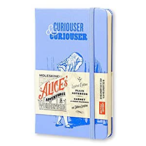 Moleskine Alice's Adventures in Wonderland Limited Edition Notebook, Pocket, Plain, Blue, Hard Cover (3.5 X 5.5)