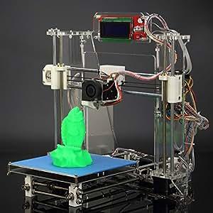 Andoer Aurora ® vive pour imprimante 3D RepRap Prusa i3 Machine Kit DIY Combinaison Cura logiciel Acrylique moulée Par Injection avec écran LCD Off-line impression carte SD/Filament PLA ABS-À monter soi-même-haute précision pour Z605S d'enseignement artistique de l'industrie