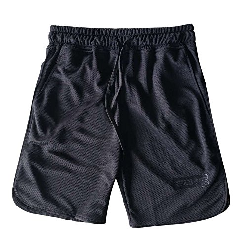 raining Bodybuilding Sommer Shorts Workout Fitness Gym Kurze Schwimmhose(Schwarz Size:L) ()