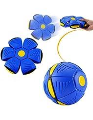 Magia Volando Platillo Bola UFO magia Flash dardos deformación Ball Lost Ball Frisbee volando discos de juguete juego de Futbol (Blue)