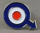 Metal Enamel Pin Badge Brooch MOD Arrow Target (Roundel)