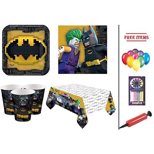 Artículos para la fiesta de Batman Dark Knight Juego de vajilla para la fiesta de cumpleaños de Batman 16- Placas de… 2