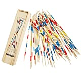 #9: Trinkets & More Mikado Game Wooden 31 Pick Up Sticks Classic game nostalgic game intellectual game fun family game for Kids 5+ Years