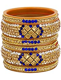 Traditional Multi Color Stone Bangles For Girls, Multi-Color Bangles Set With Fancy Design Bangles For Women,...