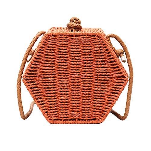 Allegorly Damen Taschen Elegant Umhängetasche Vintage Handtasche Gewebte Henkeltaschen Freizeit Schultertaschen Mode Citytasche Kuriertaschen Crossbody Strandtasche für Urlaub Party