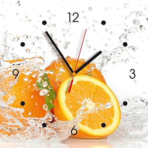 Contento Reloj de pared de cocina - naranja