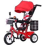 HeiDan Vélo Tricycle pour Enfants 1-3 Trolley 2-6 Ans vélo bébé artefact...