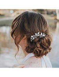 Simbly novia peine de pelo de boda diadema diadema diadema novia boda  accesorios de pelo pieza 77ebf2f95161