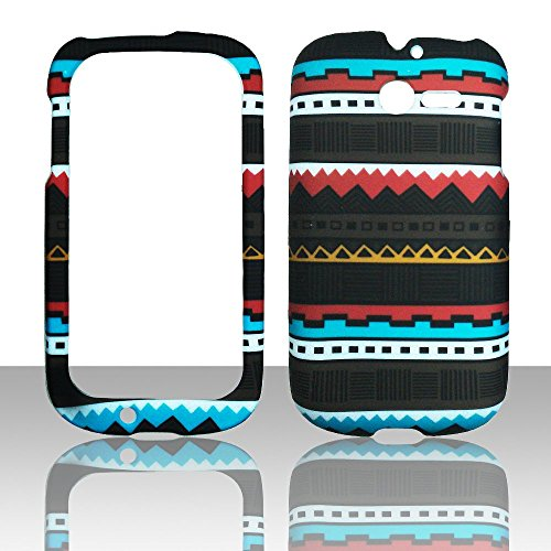 2d-schwarz-tribal-huawei-ascend-y-m866-tracfone-us-cellular-schutzhulle-hard-case-snap-on-cover-gumm