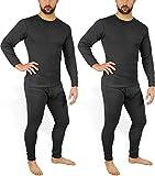 2 × Herren Thermo Unterwäsche - Ski Unterwäsche Garnitur - Lange Unterhose und Hemd - Thermounterwäsche Set