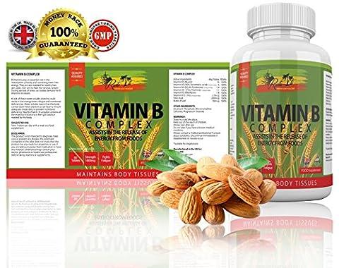 Vitamin B Complex by Rasta-Viti - FULL B SPECTRUM: B1,
