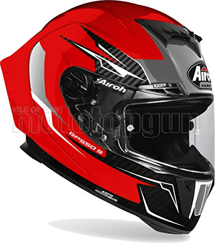 AIROH GP55V55 CASCO MOTO INTEGRALE ROJO GLOSS GP550-S