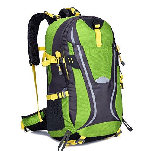 Multicolor Bergsteigen Tasche Outdoor Camping Wanderrucksack 45L Green