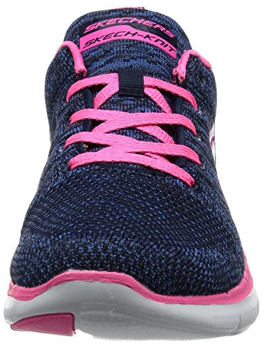Skechers Flex Appeal 2.0High Energy, Baskets Basses Femme, Schwarz Bleu (Nvhp Marine/Rose Foncé)