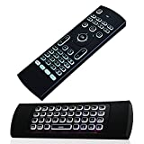 JUSTOP F40 Backlit Mini Wireless Keyboard Air Mouse 3D Fly Controller Built In Gyro Sensors Comes With Nano USB Receiver Perfect For Android Kodi Boxes, HTPCs, Smart TVs, Apple TV, Rasberry Pi, Laptops, Presentation Etc