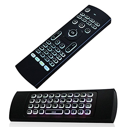 JUSTOP F40 Backlit Mini Wireless Keyboard Air Mouse 3D Fly Controller Built In Gyro Sensors Comes With Nano USB Receiver Perfect For Android Kodi Boxes, HTPCs, Smart TVs, Apple TV, Rasberry Pi, Laptops, Presentation Etc Test