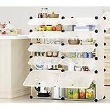 WHYHOME Estantes de almacenamiento Estantes de cocina Estantería combinada para entarimado Estantes multi-tienda Estante móvil multifuncional para acabado ( Color : 6# )