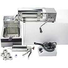 5L Horizontal churro máquina churro eléctrica español Churros Panificadora con herramientas de mermelada y Chocolate derretido