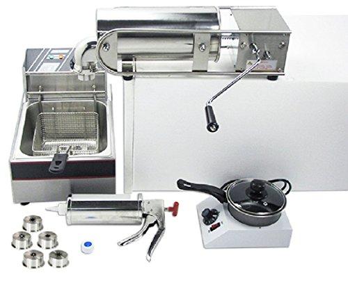 5L Horizontal churro máquina churro eléctrica español Churros Panificadora con herramientas de mermelada y Chocolate derretido máquina 220V–240V