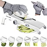 Mandolin Slicer,MILcea Upgraded Stainless Steel Mandoline Slicer Adjustable Kitchen Food Julienne Slicer