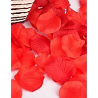 Lemon & T 100pc Decorative fiori rose petal Wedding Home Decorazione fiori artificiali Red