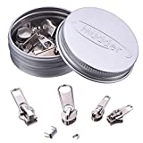 36 Pack Zipper Replacement Zipper Repair Kit, Silver