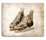 Liili Mauspad Naturkautschuk Mousepad Bild-ID 31827039Paar Old Schlittschuhe Strukturierte Hintergrund Schwarz und Weiß Version Retro Vintage
