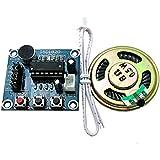 WINGONEER Módulo ISD1820 Grabación Voz Sonido Audio Micrófono + Parlantes