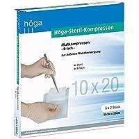 Höga Steril-Kompressen, sterile Mullkompressen - 10 x 20 cm - 5x2 Stück, steril, 8-fach, EN 14079-Typ 17, 2er-Pack preisvergleich bei billige-tabletten.eu