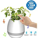 captcha Intelligent Touch Plant Piano Flower Pot Bluetooth Speaker with colorful LED Light Compatible with Smartphones(Flower.Pot.Spkrs)