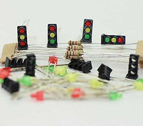 JTD15 10 Stk. Signale LED rot/gelb/grün DIY Dwarf Zwergsignale Spur N/ Z NEU