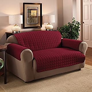 2 Seater Sofa Protector Burgundy / Wine 46 x 70.5 Water Resistant Quilted by Ashley Mills