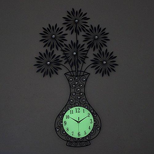 Luminoso colgante tabla jarrón estilo europeo reloj de cuarzo creativo reloj de...