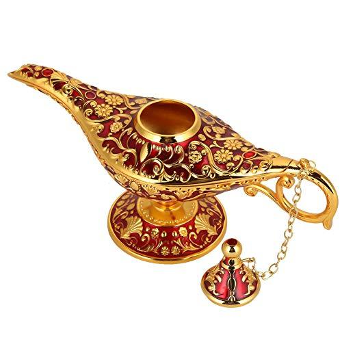 Lámpara mágica de Aladdin, Retro Metal Fairy Tale Aladdin Magic Genie Teapot...
