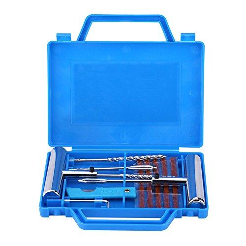 7 Stücke Reifendiagnosereparatursatz Tubeless Rad Reifen Puncture Mending Tool Set für Auto/Motorrad (Blau) ()