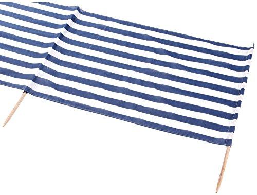 IDENA Windschutz ca.800X80cm füt Strand, Camping und Garten (Farbe blau weiß | Windschutz 8m)