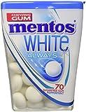 Mentos White Always Peppermint, Chewing Gum Gusto Menta, Gomme da Masticare Senza Zucchero e Senza Glutine, 8 Barattoli da 70 gr. [560 gr.]