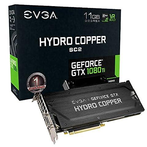 EVGA GeForce GTX 1080 Ti SC2 GAMING/iCX Technology - 9 Capteur thermiques & RGB LED G/P/M/Asynch Ventilateur/Optimise Airflow Design Carte Graphique