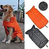 Yahee Hundemantel Regenmantel Hundebekleidung Hundejacke Wintermantel Regenjacke (M, Schwarz) - 2