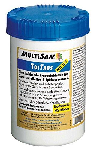 MultiSan Toiletten Tabletten \'ToiTab\' 16 Tabs für Cassettentoiletten & Spülwassertank