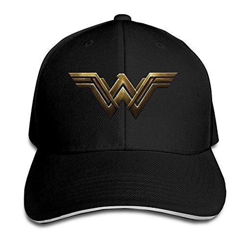 Feruch IEEFTA Justice League New WW Wonder Women Logo Snapback Hats / Baseball Hats / Peaked Cap Black