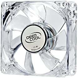 DeepCool XFAN 80L/R Carcasa del ordenador Ventilador - Ventilador de PC (Carcasa del ordenador, Ventilador, 8 cm, 1800 RPM, 1800 RPM, 20 dB)